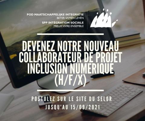 Offre d'emploi collaborateur de projet inclusion numérique