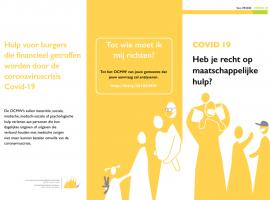 """Informatie over de folder """"COVID-19 – Heb ik recht op maatschappelijke hulp?"""""""